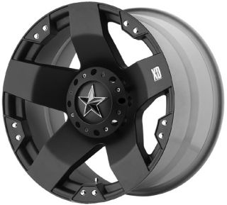 KMC XD Series Rockstar Black Wheels Rims 5x127 Jeep Wrangler JK
