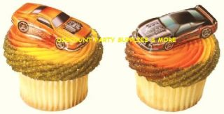 Hot Wheels Cars Cupcake Placs Picks Cake Toppers