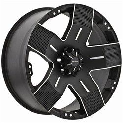 15 inch Ballistic Hyjak Black Wheels Rims 5x5 5x127