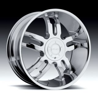 22 inch Gitano G 48 Chrome Wheel Rim 5x115 Chrysler 300C Charger