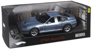 HOT WHEELS ELITE 1 18 FERRARI 575M MARANELLO TITAINIUM BLUE BAD BOYS 2
