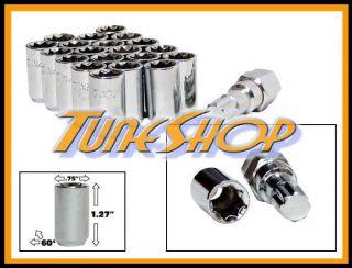 20 Tuner Wheel Lock Lug Nuts 8 Point Key 12x1 5 12 1 5 Acorn Open End