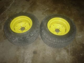 Deere 140,316,318 Garden Tractor Rear Wheels W/Turf Tires 23X10.50 12