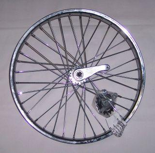New Steel Chrome 20 x 2 125 BMX Bike Wheel Rear Coaster Brake