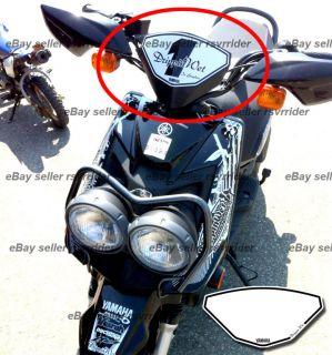 Front Numberplate Decal Sticker Fits Yamaha Zuma 125 Pit Bike