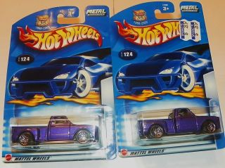 2003 2 Hot Wheels Rare 124 69 Chevy Trucks W Blue Rear Bumper 158 Mint