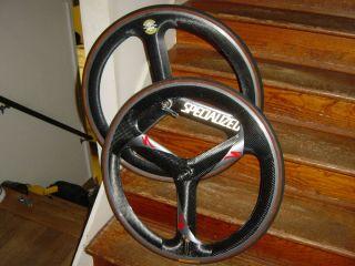 Specialized Carbon Fiber Tri Spoke Wheels