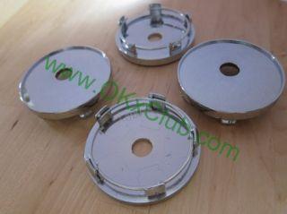 No Logo 60mm Wheel Center Caps Hub Caps Chrome Fit for 56 5mm