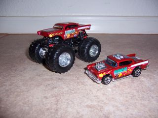Hot Wheels Monster Jam Custom Red Avenger Monster Truck GraveDigger