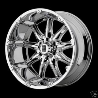 18 Inch CHROME XD Series Badlands RIMS Chevy Dodge 2500 3500 8 Lug