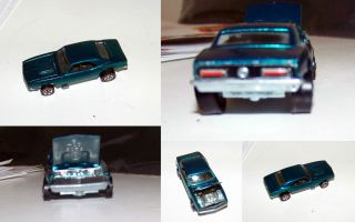 1967 Hot Wheels Custom Camaro Aqua Green in EXC Condition