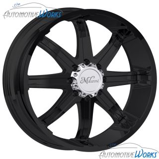 Milanni Kool Whip 8 8x170 18mm Matte Black Wheels Rims inch 24