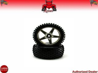 Redcat Racing Chrome Rear Wheels and Tires 2pcs