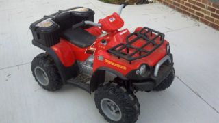 Power Wheels battery operated Kawasaki Red Brute Force ATV (Akron