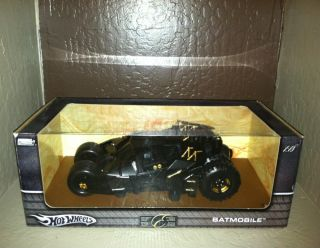 NEW Dark Knight Batmobile Hot Wheels Tumbler 1 18 scale Mint in Box