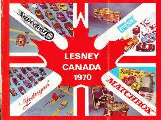 RARE Matchbox Lesney Dealer Catalog Canada 1970