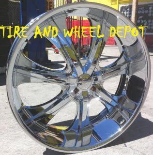 24 inch V725 Rims Wheels and Tires Acadia Traverse Yukon Escalade