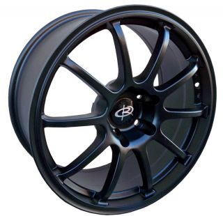 17 ROTA G FORCE BLACK RIMS WHEELS 17x7.5 +48 5x100 SUBARU WRX IMPREZA