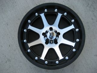 18 x 9 Rim KMC XD798 Addict Gloss Black Machined NEW xd tahoe jeep GMC