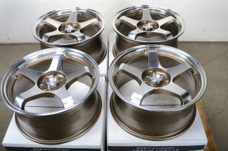 Polished 4 Lug Wheels Civic Accord Cooper Yaris MR2 Cobalt Rims
