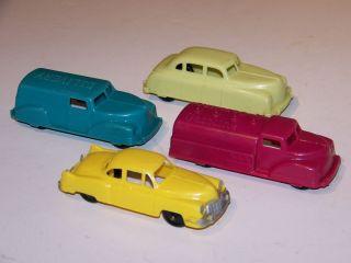 Vintage Renwal Hubley Lot of 4 Gasoline Tanker Delivery Chevrolet Car