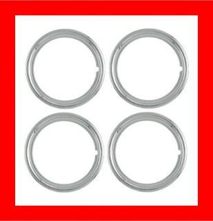 15 Chrome ABS Beauty Trim Rings 1 3 4 Depth New