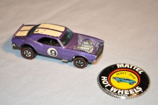 Hot Wheels Redline Light Purple 1969 Heavy Chevy grey interior with