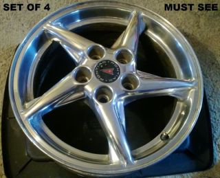 16 Pontiac Grand Prix Wheels Rims Polished Aluminum Style Great