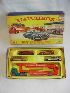 1960 Vintage Matchbox Transporter Gift Set G2 B Boxed