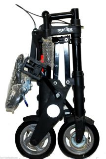 portable Travel Foldable Bicycle w 8 wheels Travel bag tool set