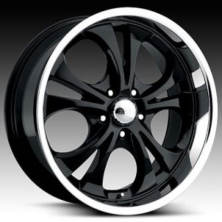 BOSS 304 DODGE RAM FORD F150 DURANGO DAKOTA BLACK POLISHED WHEEL RIMS