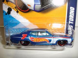 2012 Hot Wheels 1970 Ford Torino HW Racing 178 Case K