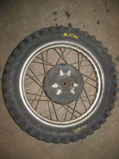 Rear Wheel Tire Rim Hub Yamaha XT600 1990