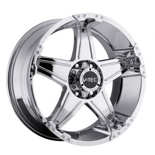 17 inch V Tec Wizard Chrome Wheels Rims 8x6 5 8x165 1 12 Dodge RAM