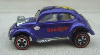 Vintage Hot Wheels 1967 Custom VW Volkswagon Redline Purple Bad Bug