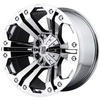 20 inch XD Monster Chrome Wheels Rims 8x6 5 8x165 1 18