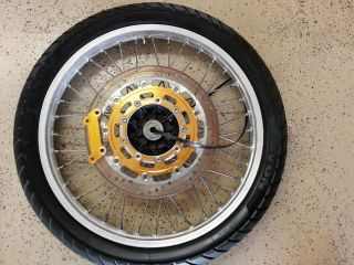 07 KLR650 Front Wheel Rim Tire with 320mm Disc and Caliper Adapter
