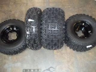 TRX300EX FRONT REAR BLACK 190 ALUMINUM WHEELS TIRES 21X7 10 20X11 10