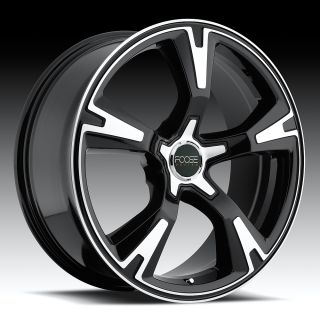 20 FOOSE RS Wheel Set 20x8 5 Black Machined 5 Lug FWD Rims