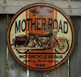 USA METAL SIGN* MotherRoad Indian Harley Motorcycle Repair *SHIPS
