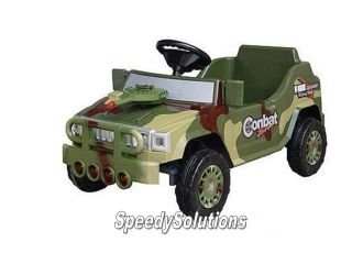 Ride on Remote Control Power Mini Jeep Wheels My Millitary Car