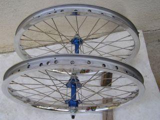 20 DIAMOND BACK NOS RIMS WHEELS BLUE SUZUE HUBS BMX RACING FREESTYLE