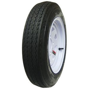 St 205 75D14 F78 14 Bias White Spoke Wheels Rims 14 Set of 2