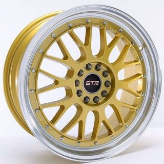 Str Wheels 17 Gold Rims 4 Lug 4x100 4x114 3 Honda Nissan Toyota Scion