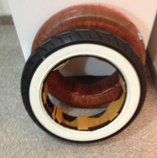 White Wall Tires Front And Rear Mt 90 b16 For All 16 Inch Rims Front