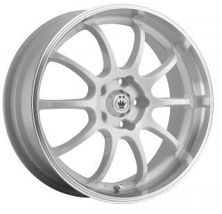18x8 Konig Lightning White Wheel Rim s 5x100 5 100 18 8