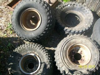 Honda ATC 200 Big Red Rims and Tires Lot Used