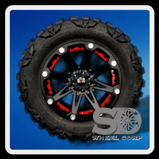JESTER 6X5 5 W 35X12 50X20 NITTO MUD GRAPPLER MT TIRES WHEELS RIM