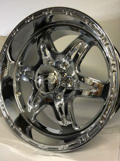 Renegade 6 Lug Chrome Wheels Rims Dodge Durango Dakota 6x4 5