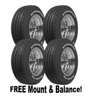 Cragar S/S 15x8 Wheel & Tire Package (4) BFG Radial T/A 225/60 15 5x4